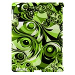 Retro Green Abstract Apple iPad 3/4 Hardshell Case (Compatible with Smart Cover)