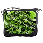 Retro Green Abstract Messenger Bag