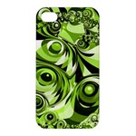 Retro Green Abstract Apple iPhone 4/4S Premium Hardshell Case