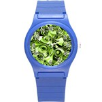 Retro Green Abstract Plastic Sport Watch (Small)