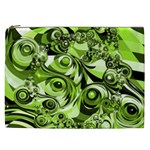 Retro Green Abstract Cosmetic Bag (XXL)