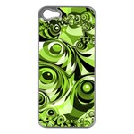Retro Green Abstract Apple iPhone 5 Case (Silver)