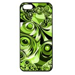 Retro Green Abstract Apple iPhone 5 Seamless Case (Black)