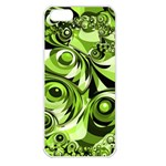 Retro Green Abstract Apple iPhone 5 Seamless Case (White)