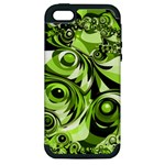 Retro Green Abstract Apple iPhone 5 Hardshell Case (PC+Silicone)