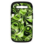 Retro Green Abstract Samsung Galaxy S III Hardshell Case (PC+Silicone)