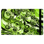 Retro Green Abstract Apple iPad 3/4 Flip Case