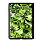 Retro Green Abstract Apple iPad Mini Case (Black)