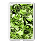 Retro Green Abstract Apple iPad Mini Case (White)
