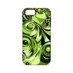 Retro Green Abstract Apple iPhone 5 Classic Hardshell Case (PC+Silicone)