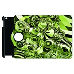 Retro Green Abstract Apple iPad 2 Flip 360 Case