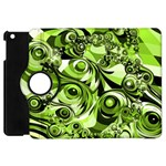 Retro Green Abstract Apple iPad Mini Flip 360 Case