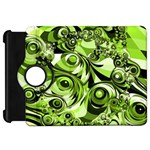 Retro Green Abstract Kindle Fire HD 7  (1st Gen) Flip 360 Case