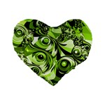 Retro Green Abstract 16  Premium Heart Shape Cushion