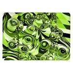 Retro Green Abstract Samsung Galaxy Tab 10.1  P7500 Flip Case