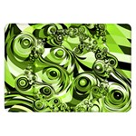 Retro Green Abstract Samsung Galaxy Tab 8.9  P7300 Flip Case