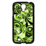 Retro Green Abstract Samsung Galaxy S4 I9500/ I9505 Case (Black)