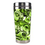 Retro Green Abstract Stainless Steel Travel Tumbler