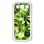 Retro Green Abstract Samsung Galaxy S3 Back Case (White)