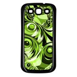 Retro Green Abstract Samsung Galaxy S3 Back Case (Black)