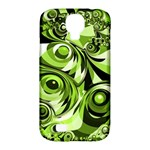 Retro Green Abstract Samsung Galaxy S4 Classic Hardshell Case (PC+Silicone)