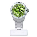 Retro Green Abstract Nurses Watch