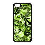 Retro Green Abstract Apple iPhone 5C Seamless Case (Black)
