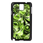 Retro Green Abstract Samsung Galaxy Note 3 N9005 Case (Black)