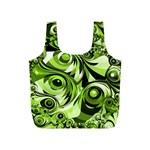 Retro Green Abstract Reusable Bag (S)