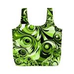 Retro Green Abstract Reusable Bag (M)