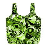 Retro Green Abstract Reusable Bag (L)