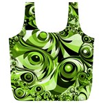 Retro Green Abstract Reusable Bag (XL)