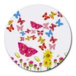 Butterfly Beauty 8  Mouse Pad (Round)