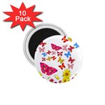 Butterfly Beauty 1.75  Button Magnet (10 pack)