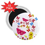 Butterfly Beauty 2.25  Button Magnet (10 pack)