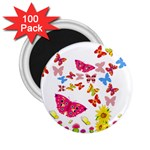 Butterfly Beauty 2.25  Button Magnet (100 pack)