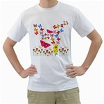 Butterfly Beauty Men s Two-sided T-shirt (White)