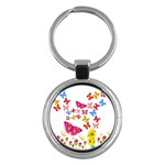 Butterfly Beauty Key Chain (Round)