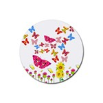 Butterfly Beauty Drink Coaster (Round)
