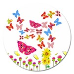 Butterfly Beauty Magnet 5  (Round)