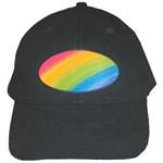 Acrylic Rainbow Black Baseball Cap