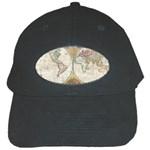 1794 World Map Black Baseball Cap