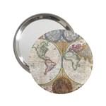 1794 World Map Handbag Mirror (2.25 )