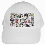 Medieval Mash Up White Baseball Cap