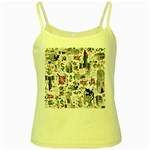 Medieval Mash Up Yellow Spaghetti Tank