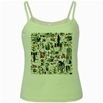 Medieval Mash Up Green Spaghetti Tank