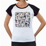 Medieval Mash Up Women s Cap Sleeve T-Shirt (White)