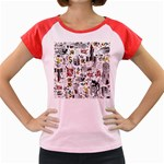 Medieval Mash Up Women s Cap Sleeve T-Shirt (Colored)