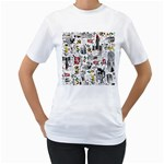 Medieval Mash Up Women s Two-sided T-shirt (White)