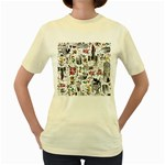 Medieval Mash Up Women s T-shirt (Yellow)